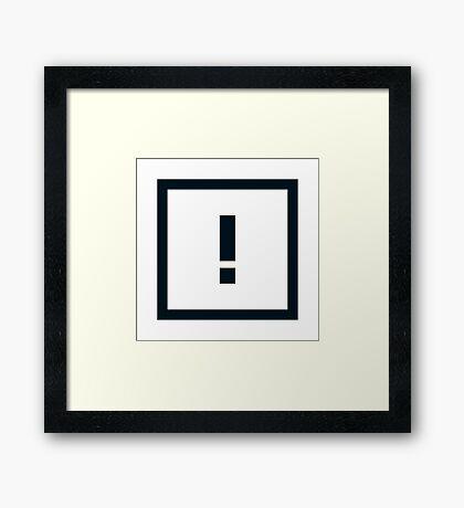 "Alphabet ""!"" Framed Print"