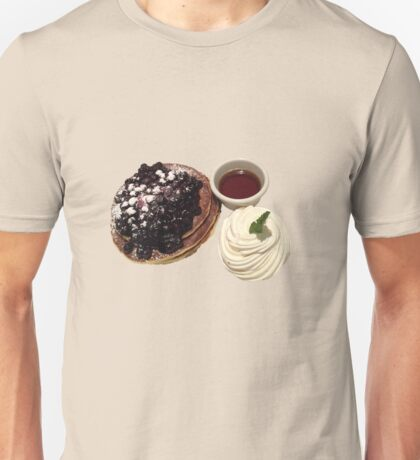 Blueberry Pancakes with Syrup and Whipped Cream Unisex T-Shirt