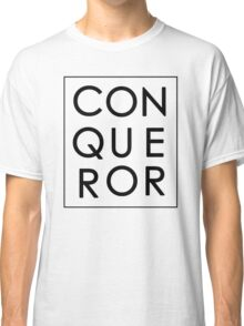 More than Conquerors - Black on White Classic T-Shirt