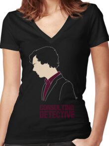 Consulting Detective Women's Fitted V-Neck T-Shirt