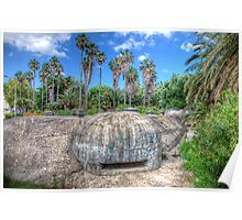 Palm Trees & Bunkers Poster