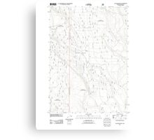 USGS Topo Map Oregon Location Butte 20110818 TM Canvas Print