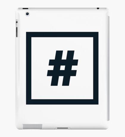 "Alphabet ""#"" iPad Case/Skin"