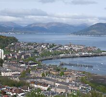 View of Gourock From lyle hill Greenock by shopinverclyde