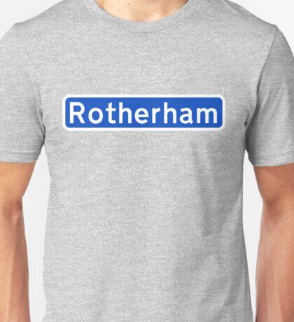 Rotherham (Motorway style) Unisex T-Shirt