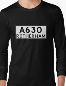 Rotherham (Old sign/ pre-Worboys style) Long Sleeve T-Shirt