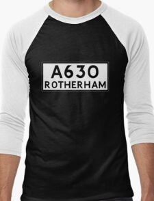 Rotherham (Old sign/ pre-Worboys style) Men's Baseball ¾ T-Shirt