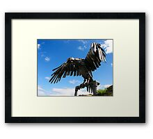 heavy metal eagle Framed Print