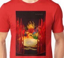 Glass Work - Flowers - Portrait Format Unisex T-Shirt