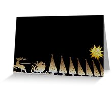 santa is coming to town Greeting Card