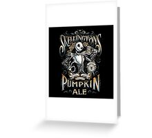 Skellingtons Pumpkin Royal Craft Ale Greeting Card