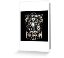 Skellingtons Pumpkin Royal Craft Ale Greeting Card