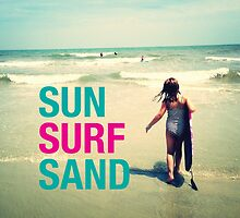 Sun Surf Sand by LoPowDesign