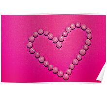 Pink Heart Poster