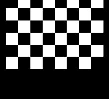 Checkered Flag, WIN, WINNER, Chequered Flag, Racing Cars, Race, Finish line, BLACK by TOM HILL - Designer