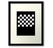 Checkered Flag, WIN, WINNER, Chequered Flag, Racing Cars, Race, Finish line, BLACK Framed Print