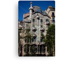 cityscapes #258, dragon by gaudi Canvas Print