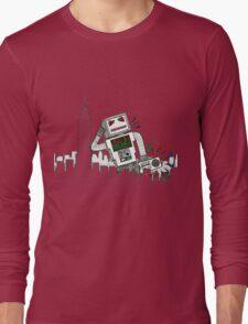 Robot Takes New York Long Sleeve T-Shirt