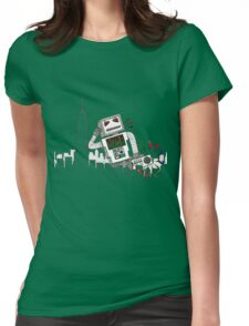 Robot Takes New York Womens Fitted T-Shirt