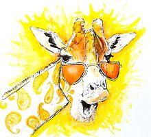 Funky Giraffe by Sofea Azlan