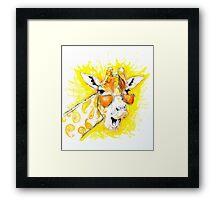 Funky Giraffe Framed Print