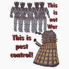 Dalek vs Cybermen by scratchyrock
