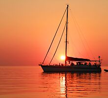 Sunset Sail by Steve Small