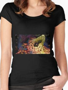Salvatore - Abstract Fractal Women's Fitted Scoop T-Shirt