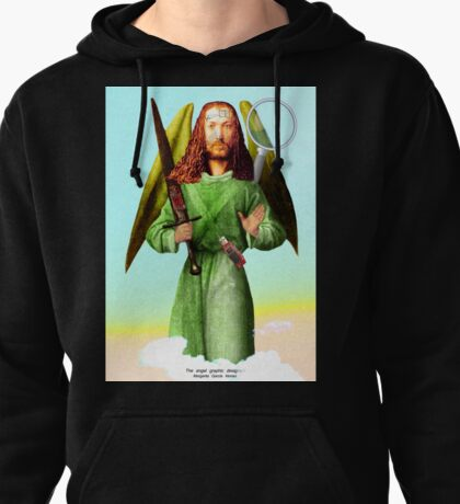 The angel of graphic designers Pullover Hoodie