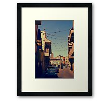 Bahrain Alleyway Framed Print
