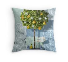 ...and a partridge in a pear tree Throw Pillow