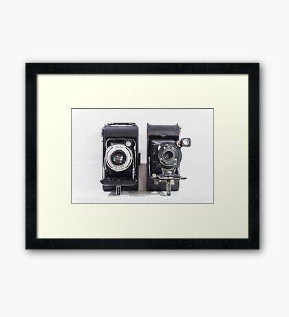 Vintage cameras Framed Print