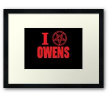 Hail Owens Pentagram Framed Print
