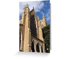Cathedral In Hobart By Magda Labuda Greeting Card
