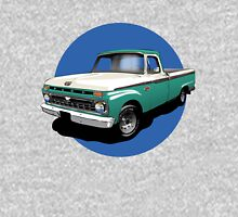 1966 Ford F100 Custom Cab - Teal & White Unisex T-Shirt