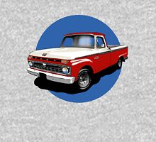 1966 Ford F100 Custom Cab - Red & White Unisex T-Shirt