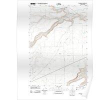 USGS Topo Map Oregon Tygh Valley 20110909 TM Poster