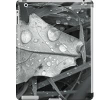 Leaf with dew drops iPad Case/Skin
