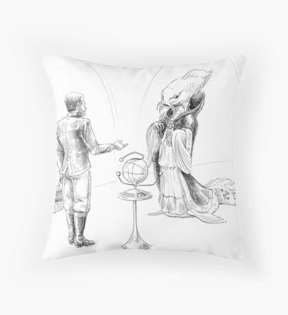 Alien Diplomacy (in progress) Throw Pillow