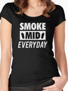 Smoke Mid Everyday Women's Fitted Scoop T-Shirt