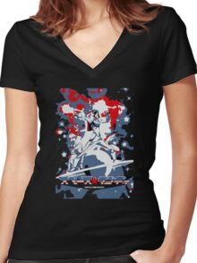 A Dandy in Space Women's Fitted V-Neck T-Shirt