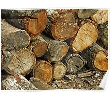 Wood Stack Poster