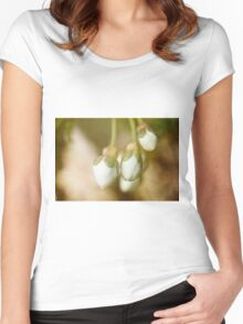 Cherry Blossom Buds Women's Fitted Scoop T-Shirt