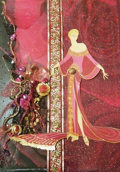 Erte-esque; Pink Lady by Ian A. Hawkins