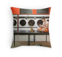 The Laundromat Throw Pillow
