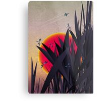 Red Heat (with Dragonflies) Metal Print