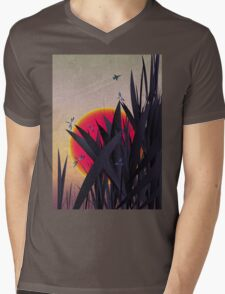 Red Heat (with Dragonflies) Mens V-Neck T-Shirt