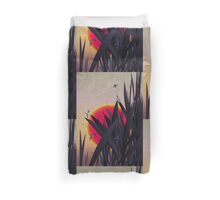 Red Heat (with Dragonflies) Duvet Cover