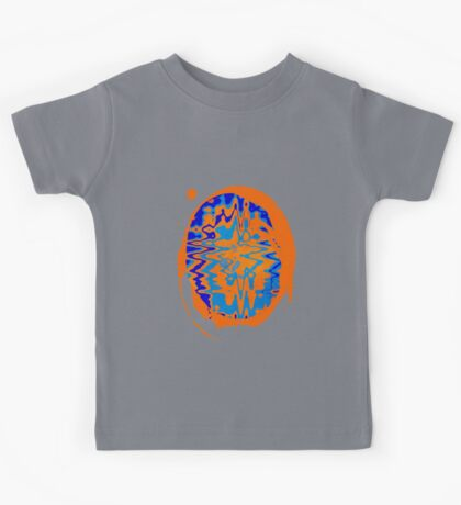 Blue and Orange Abstract Kids Tee