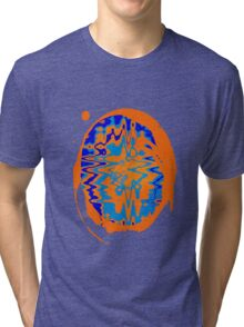 Blue and Orange Abstract Tri-blend T-Shirt